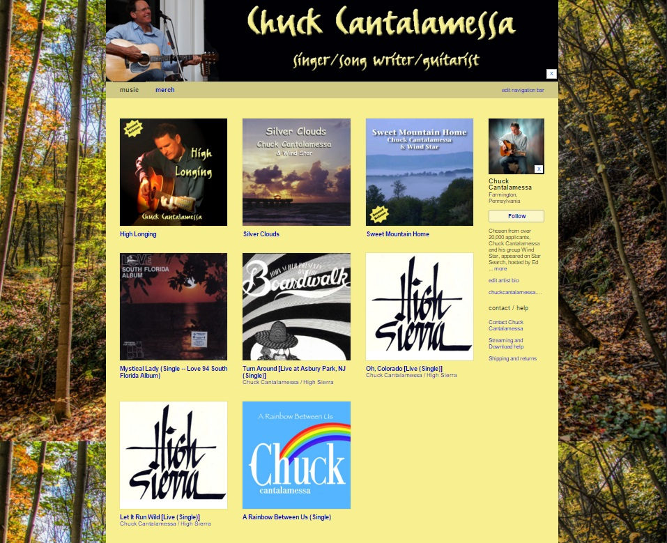 Chuck Cantalamessa Band Camp