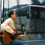 Chuck Cantalamessa opens for Huey Lewis and the News at Seven Springs-- by tour bus